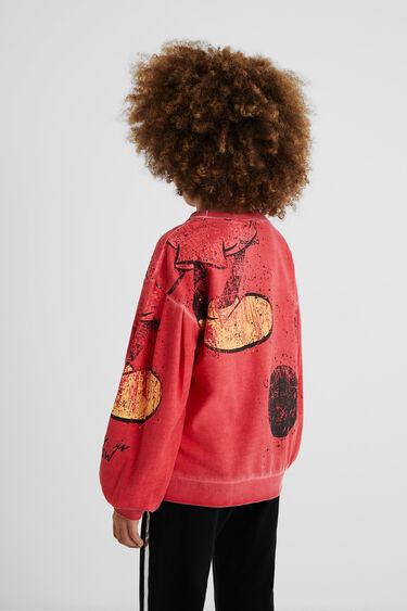 Worn Mickey Mouse sweatshirt | Desigual