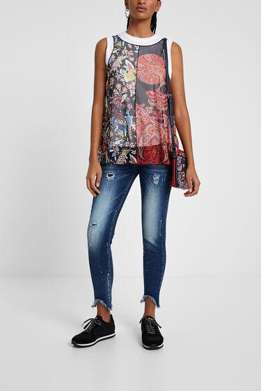 Veelkleurig meerlaags shirt | Desigual