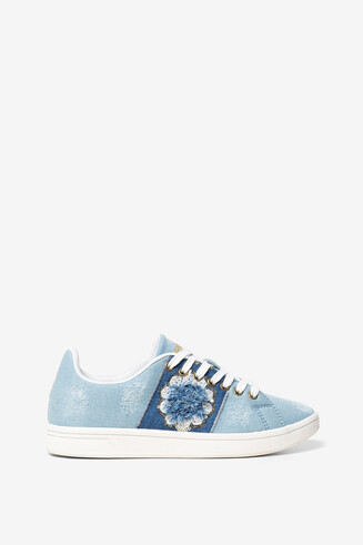 Sneakers fiore Cosmic Exotic Denim