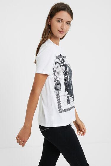 Koszulka ze 100% bawełny w kwiaty | Desigual