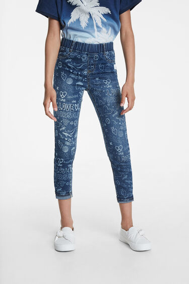 Jeggings mit Bolimania-Grafitis | Desigual