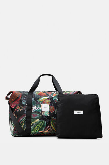 Nylon print bag with cosmetics kit | Desigual