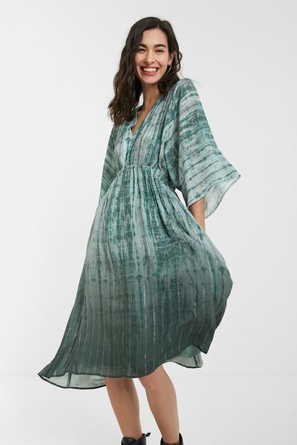 Vestido folgado tie-dye
