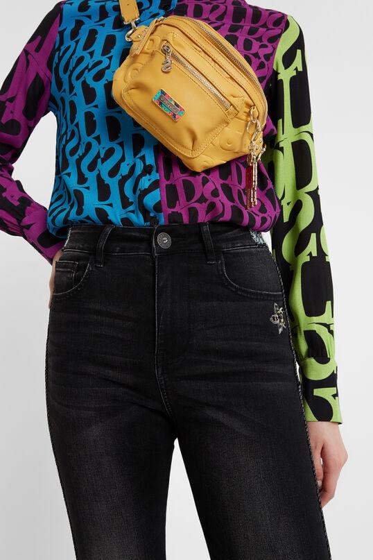 Jean skinny à bande latérale et à paillettes | Desigual