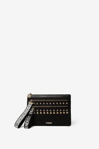 Maxi zip-pull purse
