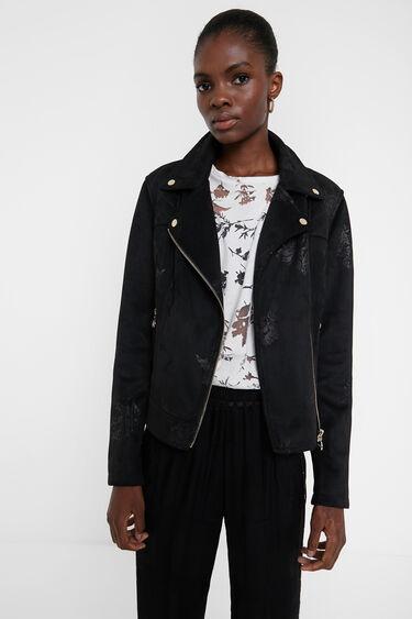 Floral biker jacket | Desigual