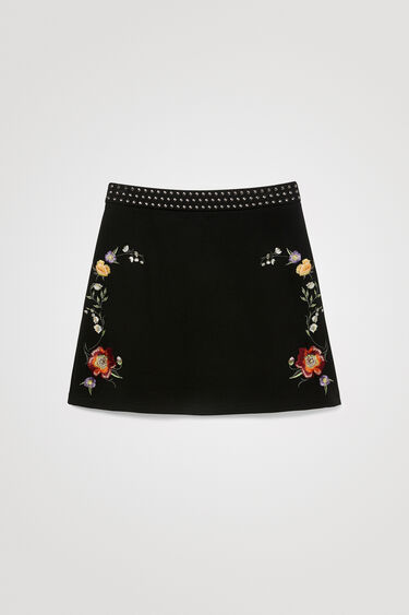 Minijupe ceinture clous | Desigual