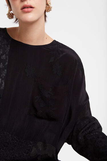 Oversize blouse sheer fabric | Desigual