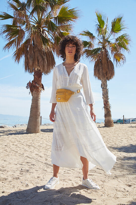 Robe longue broderie anglaise | Desigual