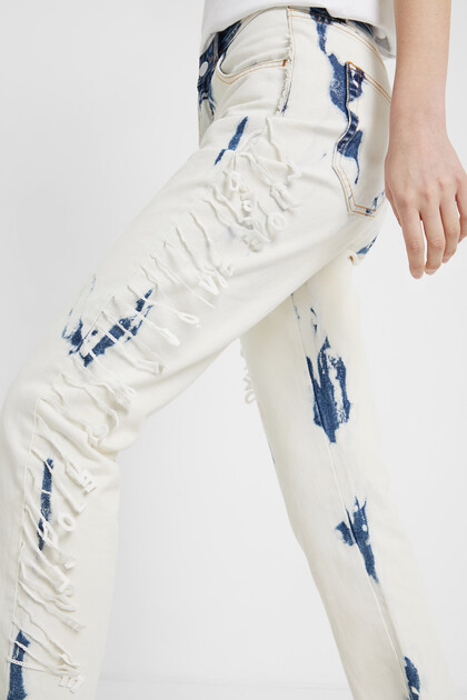 Pantalon en jean boyfriend délavé