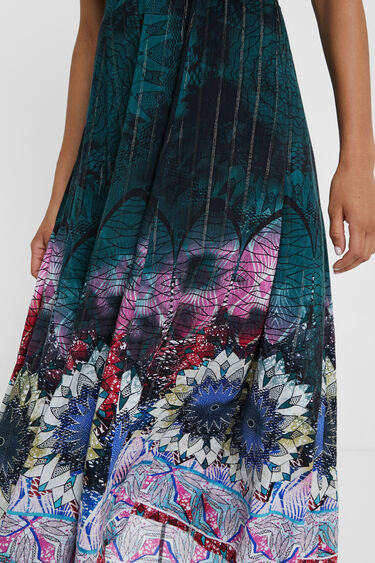 Lange jurk met print en lurexgaren | Desigual