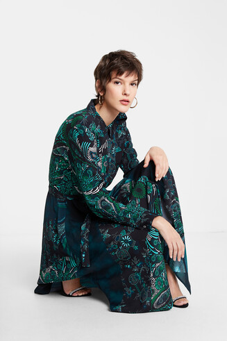 Midi shirt dress print