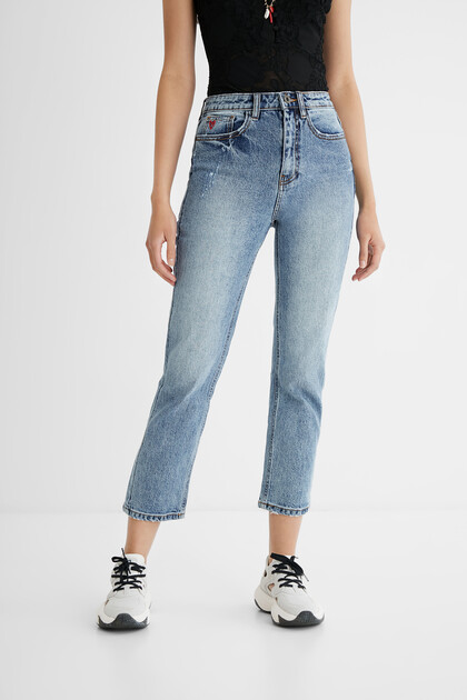 Jean Straight chevilles