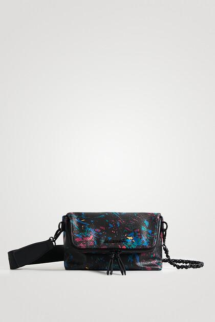 Mini torebka z klapą i nadrukiem