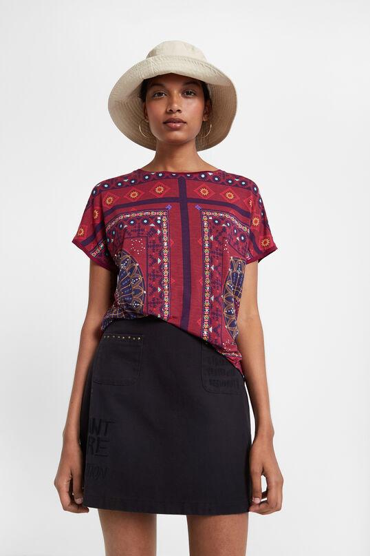Ethnic frieze pattern T-shirt | Desigual