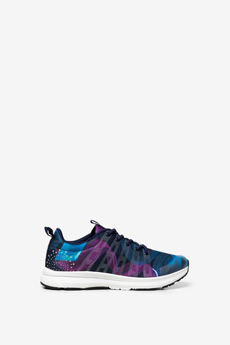 Arty print runner trainers