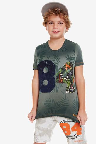 T-shirt met tropische print Ronan