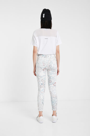 Skinny floral trousers | Desigual