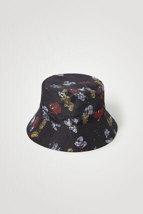Chapeau à large bord avec illustrations