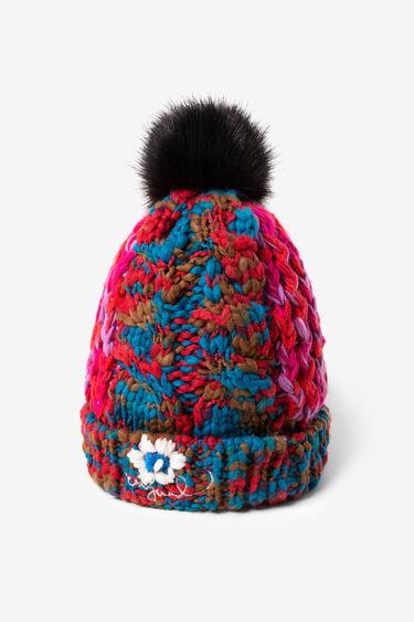 Multicolour purl stitch hat | Desigual