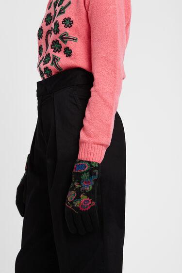 Boho knitted gloves | Desigual