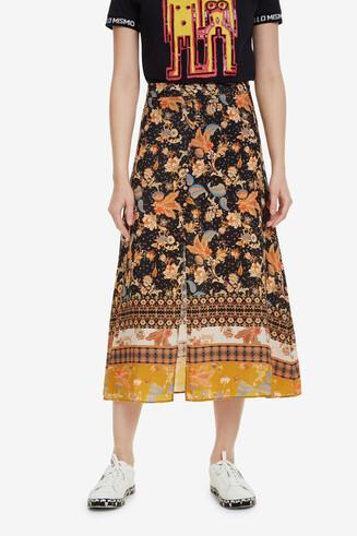 Falda estampado japonés