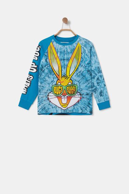 Katoenen T-shirt met illustratie Bugs Bunny
