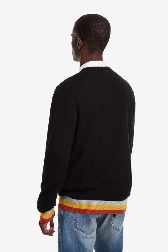 Sweater lettering hem and cuffs rib | Desigual