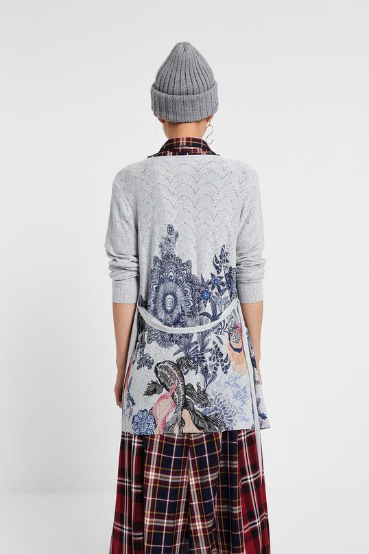 Longline cardigan with belt | Desigual