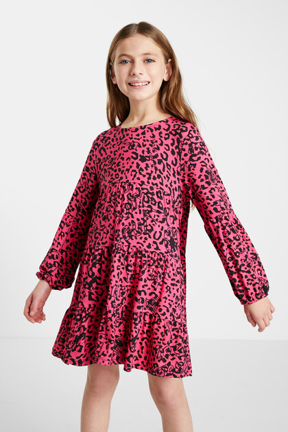 Trapeze dress leopard