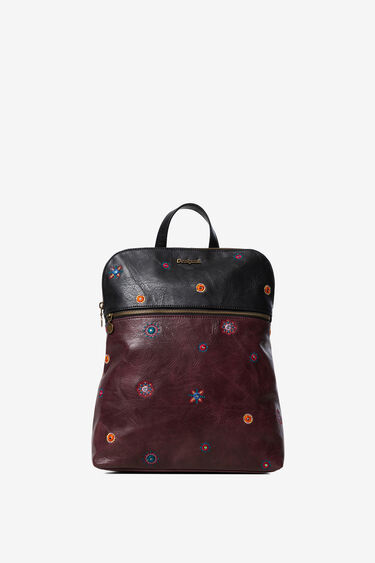 Bicolour synthetic leather backpack | Desigual