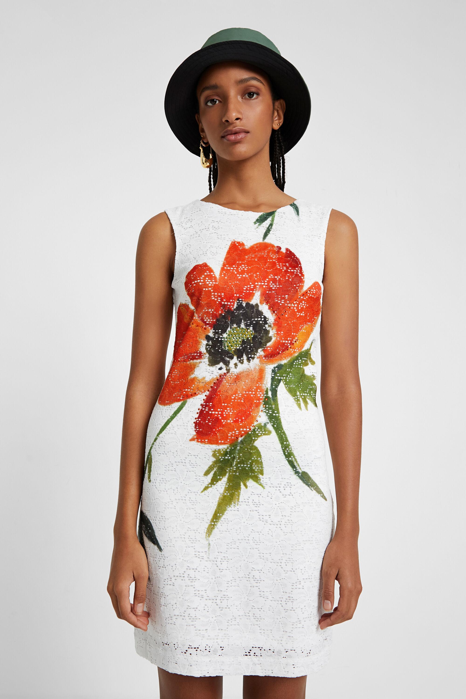 Vestito pizzo e fiore | Desigual