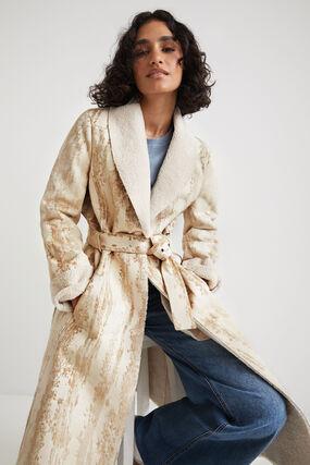 Manteau cuir synthétique ceinture