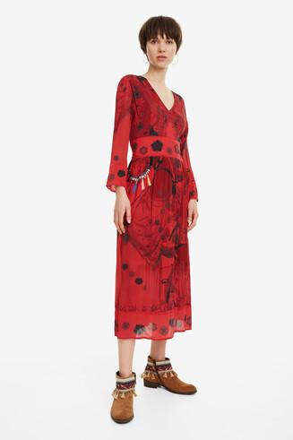 Robe longue fleurs Clam