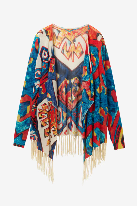 Open fringed hem jumper | Desigual