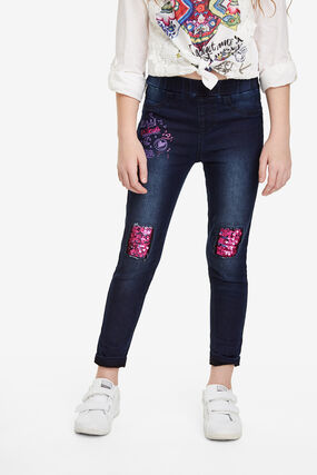 Basic jeggings reversible sequins
