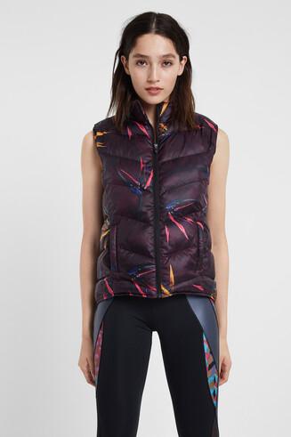 Padded floral vest