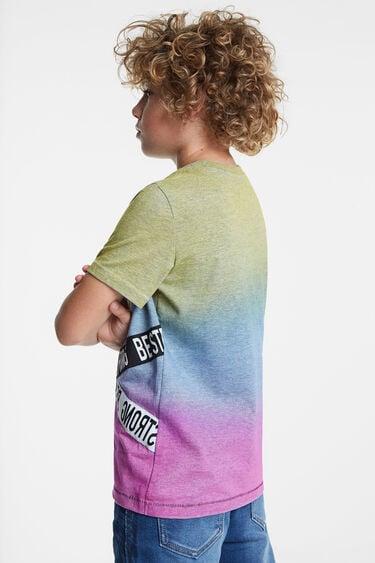 T-shirt tricolore à logo | Desigual