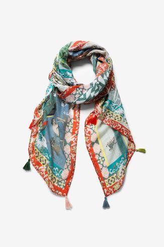 オリエンタルパッチワーク風 スカーフ
