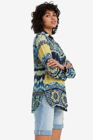Ethnic Patchwork Shirt Laos