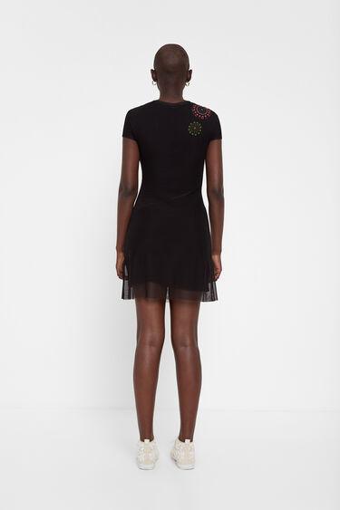 Short sleeve dress tulle and mandalas | Desigual
