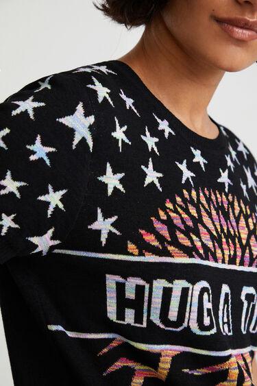 Gebreid T-shirt met jacquard | Desigual