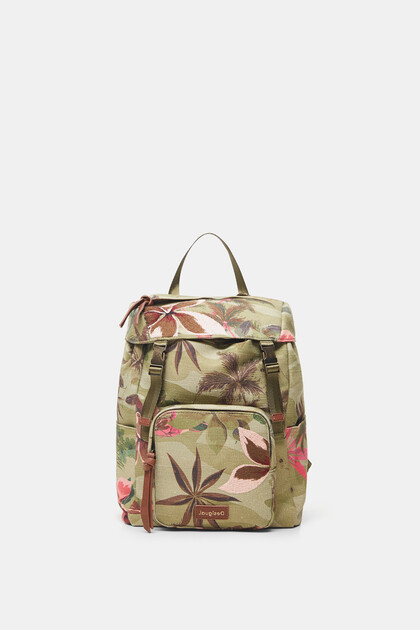 Backpack floral embroideries