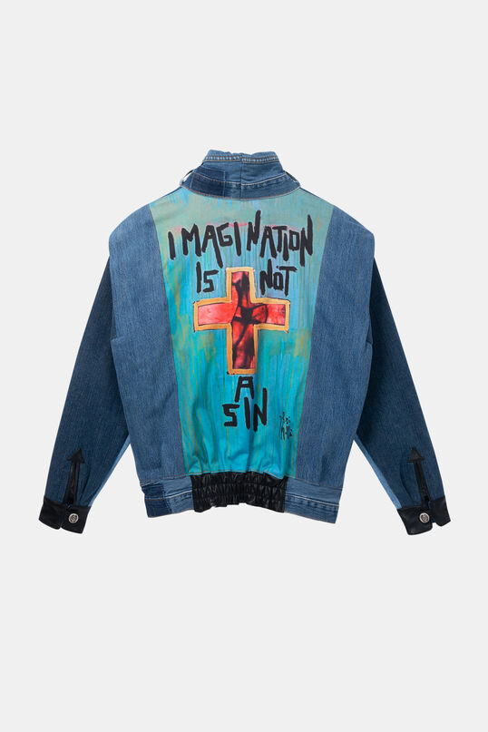 "Iconic jacket ""Imagination is not a sin"" 
