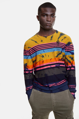 Hawaiian multicolour bands jumper