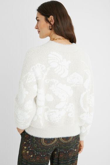 Plush floral jumper | Desigual
