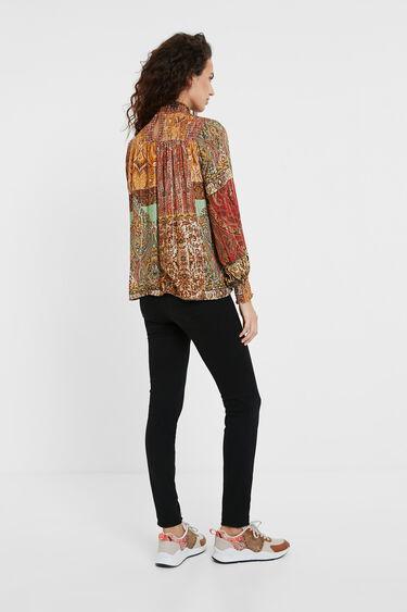 Moroccan print Lurex blouse | Desigual