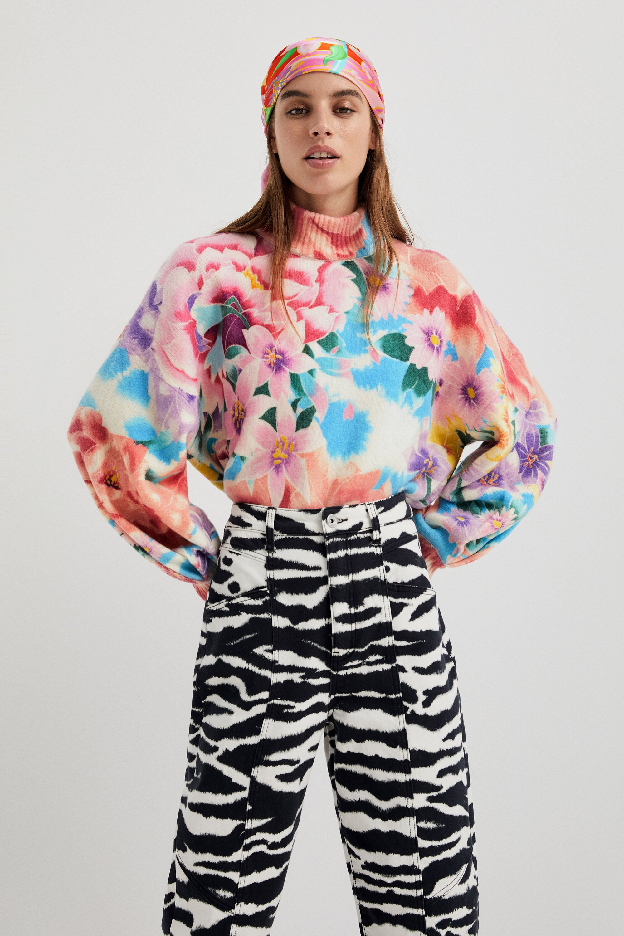 Pull oversize en maille - MATERIAL FINISHES - S