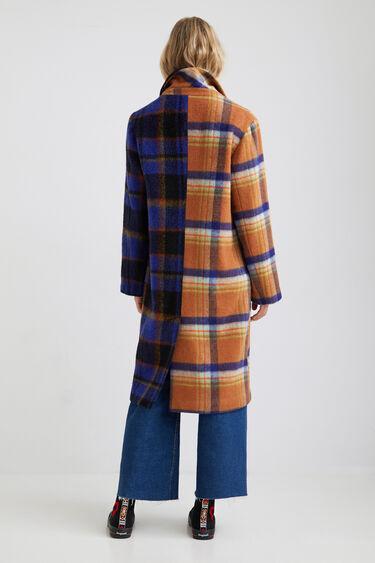 Manteau long loose tartan | Desigual
