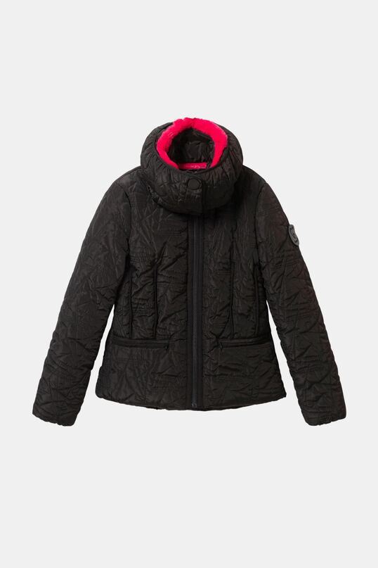 Padded jacket removable collar | Desigual